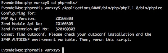 Cannot find autoconf. Please check your autoconf installation and the $PHP_AUTOCONF environment variable. Then, rerun this script.